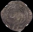 London Coins : A166 : Lot 1472 : Halfcrown Charles I Exeter Mint, Reverse: Round shield with 5 short and 2 long scrolls, S.3065 mintm...