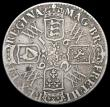 London Coins : A166 : Lot 1517 : Crown 1692 2 over inverted 2 QVARTO edge ESC 84, Bull 823 VG/Near Fine the reverse with scattered ha...