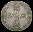 London Coins : A166 : Lot 1519 : Crown 1695 OCTAVO ESC 87, Bull 991 Fine/Good Fine