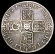 London Coins : A166 : Lot 1525 : Crown 1707 Plain in angles and below bust, SEPTIMO edge ESC 104, Bull 1344 VG/Fine a collectable and...