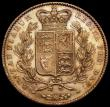 London Coins : A166 : Lot 1543 : Crown 1845 Cinquefoil stops on edge, ESC 282, Bull 2564 GVF with old gold toning, comes with collect...