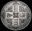 London Coins : A166 : Lot 1544 : Crown 1847 Gothic UNDECIMO ESC 288, Bull 2571 GVF Ex-Jewellery and swivel mount