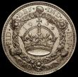 London Coins : A166 : Lot 1570 : Crown 1934 ESC  374, Bull 3647 NEF with some contact marks and a small stain above the date, the key...