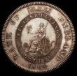 London Coins : A166 : Lot 1586 : Dollar Bank of England 1804 Proof First leaf points to end of E of DEI, Inverted K in relief below s...