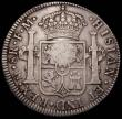London Coins : A166 : Lot 1591 : Dollar George III Oval Countermark on Mexico 8 Reales 1793 Mo FM ESC 138, Bull 1868 Countermark VF, ...