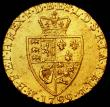 London Coins : A166 : Lot 1656 : Guinea 1799 S.3729 a slight mis-strike the obverse having the impression of the three French Lis inv...