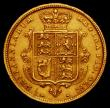 London Coins : A166 : Lot 1681 : Half Sovereign 1883 Marsh 457 NVF/GF