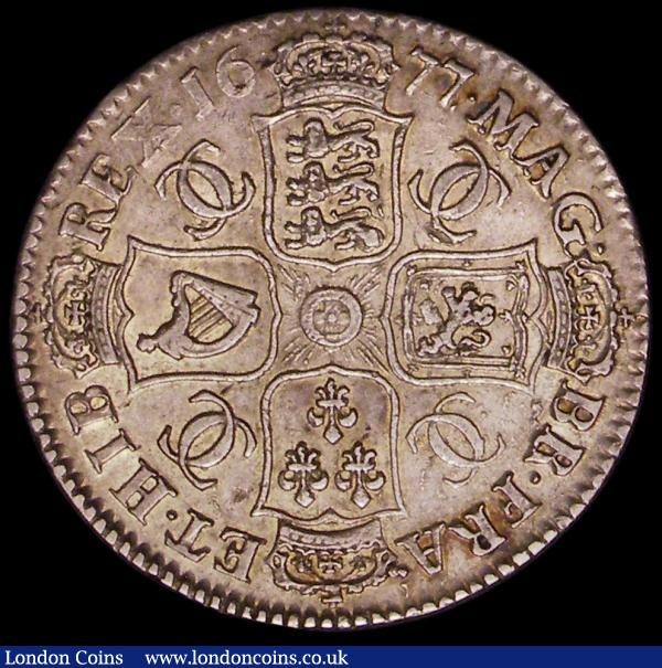 Halfcrown 1677 ESC 479, Bull 475 VF or slightly better with touches of golden tone : English Coins : Auction 166 : Lot 1724