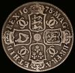 London Coins : A166 : Lot 1725 : Halfcrown 1678 ESC 480, Bull 478 VG a collectable example without problems, extremely rare, rated R4...