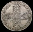London Coins : A166 : Lot 1752 : Halfcrown 1746 LIMA ESC 606, Bull 1688 NVF with old toning