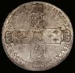 London Coins : A166 : Lot 1757 : Halfcrown 1751 ESC 128, Bull 1671 GEF with a small spot before GEORGIVS, the reverse particularly at...