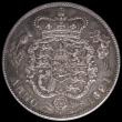 London Coins : A166 : Lot 1764 : Halfcrown 1821 Proof Davies 172P dies 1B A/UNC toned, in an LCGS holder and graded LCGS 75
