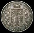 London Coins : A166 : Lot 1789 : Halfcrown 1848 8 over 6 also with traces of doubling on the first 8, ESC 681A, Bull 2728, NVF/GF wit...