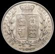London Coins : A166 : Lot 1800 : Halfcrown 1880 ESC 705, Bull 2756, Davies 589 dies 5D GEF and lustrous with a very small spot on the...