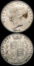 London Coins : A166 : Lot 1839 : Halfcrowns (2) 1850 ESC 684, Bull 2733 GVF/NEF the obverse with some contact marks and a thin scratc...