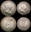 London Coins : A166 : Lot 1872 : Maundy Set 1772 ESC 2415, Bull 2233 the Threepence with a small depression in the rim at the top, ap...