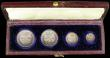 London Coins : A166 : Lot 1878 : Maundy Set 1839 ESC 2448, Bull 3481 NEF to GEF the Fourpence with the 8 and 3 double struck, Threepe...