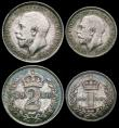 London Coins : A166 : Lot 1906 : Maundy Set 1916 ESC 2533, Bull 3976 EF to UNC and matching with grey tone