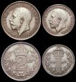 London Coins : A166 : Lot 1914 : Maundy Set 1927 ESC 2544, Bull 3987 NEF once lightly cleaned