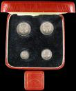 London Coins : A166 : Lot 1920 : Maundy Set 1931 ESC 2548, Bull 3991 A/UNC to UNC with some lustre, a nicely matched set, comes in a ...