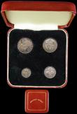 London Coins : A166 : Lot 1925 : Maundy Set 1933 ESC 2550, Bull 3994 EF to A/UNC with matching tone, the Fourpence with signs of old ...