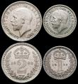 London Coins : A166 : Lot 1926 : Maundy Set 1933 ESC 2550, Bull 3994 EF to GEF with some small spots
