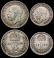 London Coins : A166 : Lot 1927 : Maundy Set 1934 ESC 2551, Bull 3995 A/UNC with matching grey tone all coins with underlying lustre