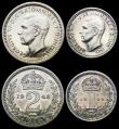 London Coins : A166 : Lot 1938 : Maundy Set 1948 ESC 2565, Bull 4317 GEF to A/UNC, a matching set with a hint of toning