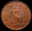 London Coins : A166 : Lot 1989 : Penny 1864 Crosslet 4 Freeman 48 dies 6+G EF and lustrous with some edge nicks and a spot by F:D:, v...