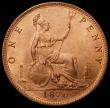 London Coins : A166 : Lot 1996 : Penny 1876H Narrow Date Freeman 89 dies 8+K UNC with even subdued lustre and excellent surfaces, the...