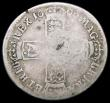 London Coins : A166 : Lot 2021 : Shilling 1696N First Bust, Small X in REX, as ESC 1099, Bull 1185 Fair, on a large flan of 26mm diam...