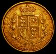London Coins : A166 : Lot 2103 : Sovereign 1863 Shield Reverse, Marsh 48, Die Number 5 GF/NVF