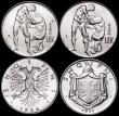 London Coins : A166 : Lot 2615 : Albania (3) 5 Lek 1939R KM#33 UNC and lustrous, Half Lek (2) 1926R KM#4 Lustrous UNC, 1931L KM#13 Lu...