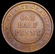 London Coins : A166 : Lot 2620 : Australia Halfpenny 1913 London Mint Wide Date KM#22 EF or slightly better, Rare