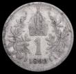 London Coins : A166 : Lot 2626 : Austria 1 Corona 1892 KM#2804 Near Fine , Rare, the key date in the series