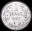 London Coins : A166 : Lot 2645 : Belgium 1 Franc 1909 French Legend KM#56.1 Lustrous UNC