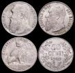 London Coins : A166 : Lot 2658 : Belgium 50 Centimes (3) 1886 KM#27 Dutch legend EF or slightly better, 1901 KM#51 Dutch legend EF wi...