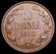 London Coins : A166 : Lot 2728 : Finland 10 Pennia 1910 KM#14 A/UNC and nicely toned