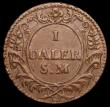 London Coins : A166 : Lot 2881 : Sweden Daler 1718 Emergency Coinage SATVRNVS obverse KM#358 approaching EF and vastly superior to th...