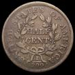 London Coins : A166 : Lot 2921 : USA Half Cent 1804 Plain 4, stemless wreath, Breen 1543 VG/NVG