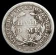 London Coins : A166 : Lot 2923 : USA Half Dime 1844 O, Large O Breen 3037, Fine/Near Fine with some dirt on the reverse, listed as Ra...