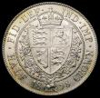 London Coins : A166 : Lot 2964 : Halfcrown 1898 ESC 732, Bull 2784 AU/UNC and lustrous with minor contact marks, the reverse with tou...
