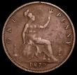 London Coins : A166 : Lot 3016 : Penny 1879 Narrow Date Freeman 98 dies 9+K VG with some pitted surfaces