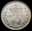 London Coins : A166 : Lot 3042 : Threepence 1894 ESC 2106 Lustrous UNC, Ex-London Coins Auction A144 1/3/2014 Lot 2188
