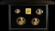 London Coins : A166 : Lot 526 : Britannia Gold Proof Set 1995 the 4-coin set comprising £100 One Ounce, £50 Half Ounce, ...