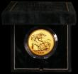London Coins : A166 : Lot 615 : Five Pounds 1995 Gold BU in the Royal Mint's green velvet box of issue with certificate