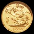 London Coins : A166 : Lot 641 : Half Sovereign 2016 The First Jody Clarke Bullion Half Sovereign BU in Westminster's Presentati...