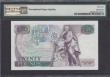 London Coins : A166 : Lot 72 : Twenty Pounds Somerset QE2 pictorial & William Shakespeare B351 Purple & Green issue 1984 FI...