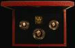 London Coins : A166 : Lot 803 : The 1990 United Kingdom Gold Three Coin Sovereign Collection, Two Pounds, Sovereign and Half Soverei...