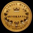 London Coins : A166 : Lot 910 : Australia 25 Dollars 2005 Sydney Mint Gold Proof FDC enclosed in the cover of a Book 'Australia...